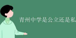 青州中学是公立还是私立插图