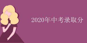 2020年中考录取分插图