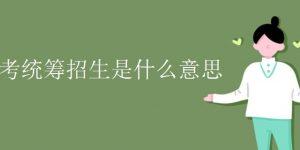 中考统筹招生是什么意思插图